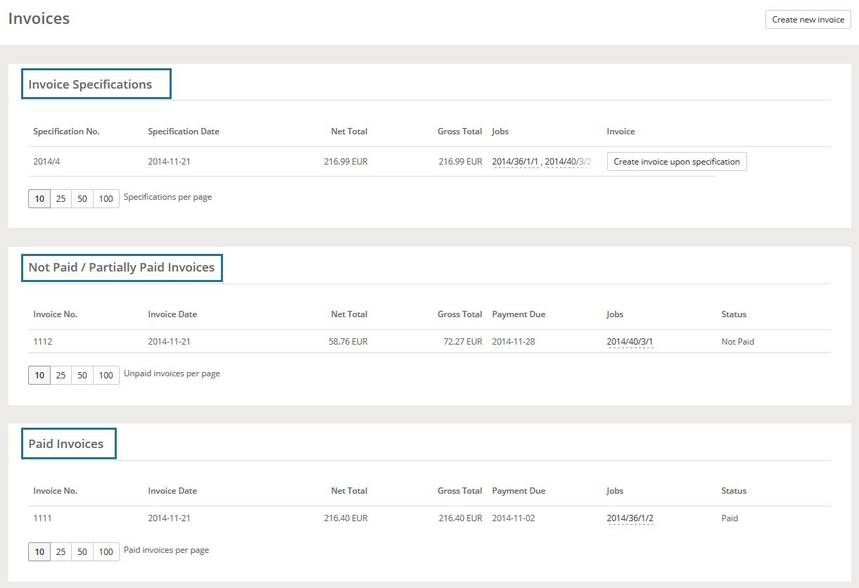 Invoices Vendor Portal Help XTRF Knowledge Base - Invoice not paid