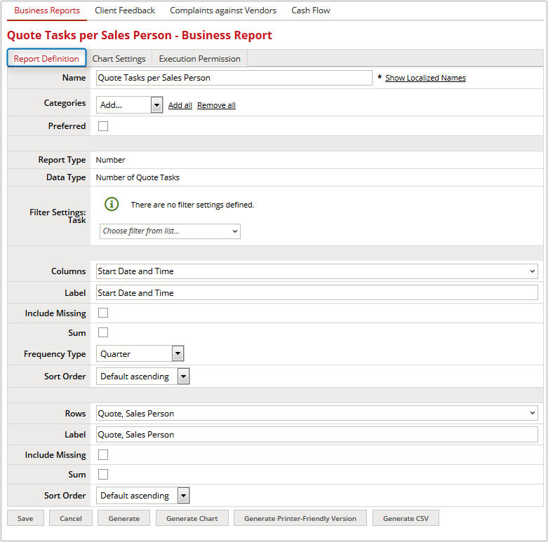 Creating a Report XTRF Help XTRF Knowledge Base – Type of Business Report