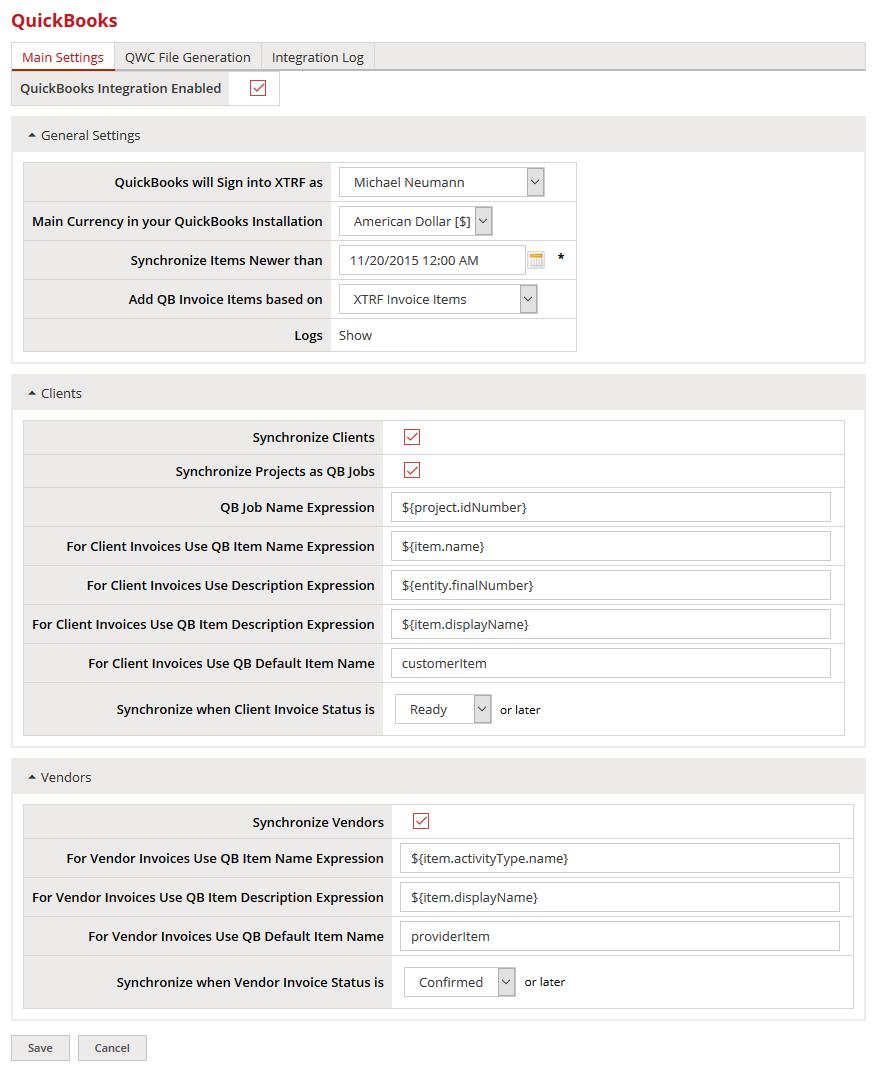 QuickBooks Integration Pre-configuration - XTRF Help - XTRF ...