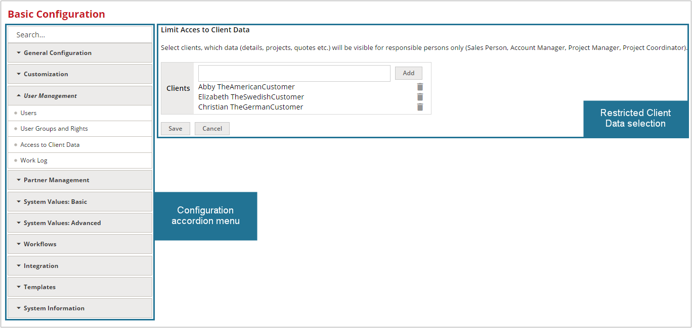 4.8 The Home Portal: Access to Client Data - User Management ...